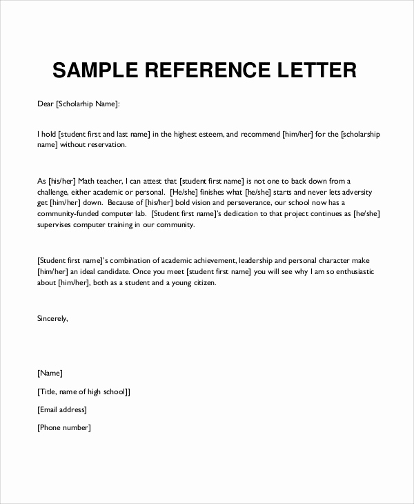 49+ Reference Letter Templates PDF, DOC | Free & Premium Templates
