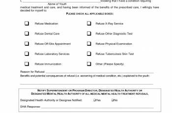 refusal of medical treatment form refusal of medical treatment form victoria | brittney taylor