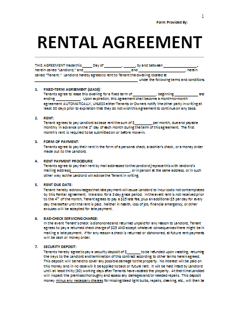 example rental agreement Kleo.beachfix.co