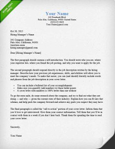 Resume Cover Letter: Free Cover Letter Example