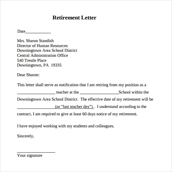 retirement letter example Kleo.beachfix.co
