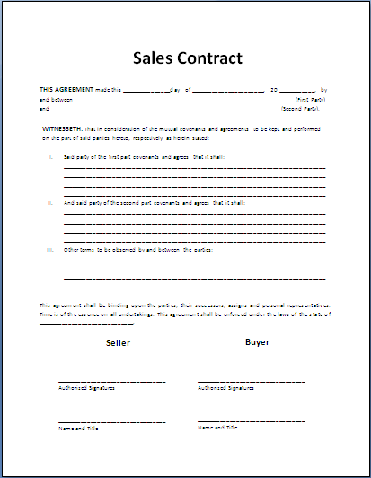 agreement of sales template sales agreement template word goods