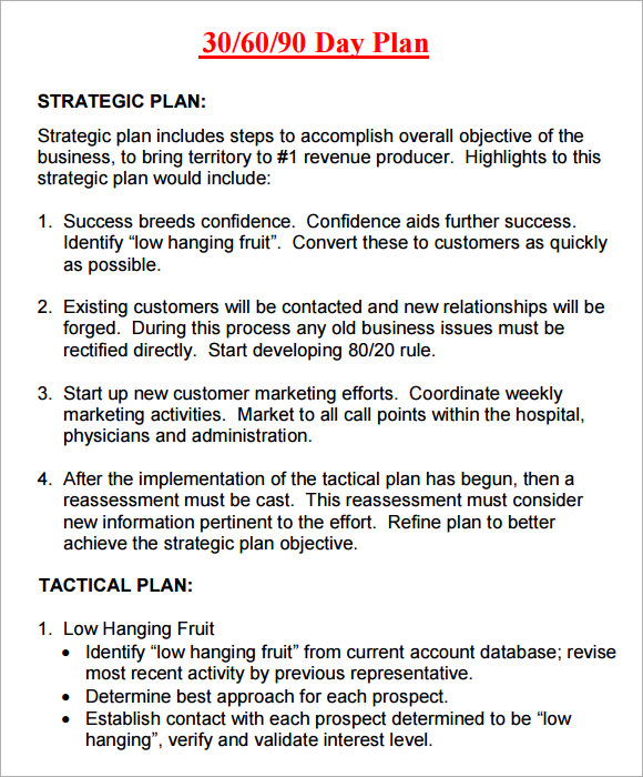 30 60 90 day plan template word Kleo.beachfix.co