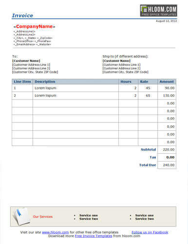 sample invoice freelance Kleo.beachfix.co