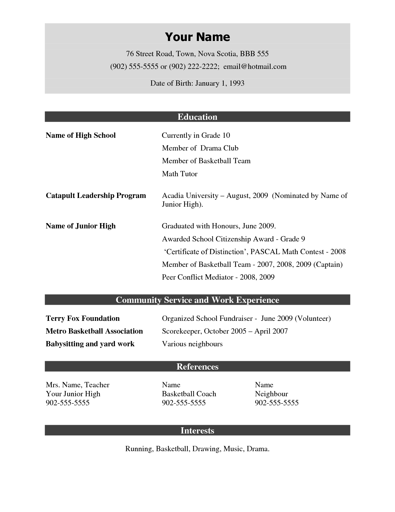 sample resume format doc download Kleo.beachfix.co