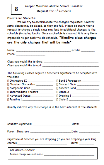 Share Form::Schedule Change Request Form 1320