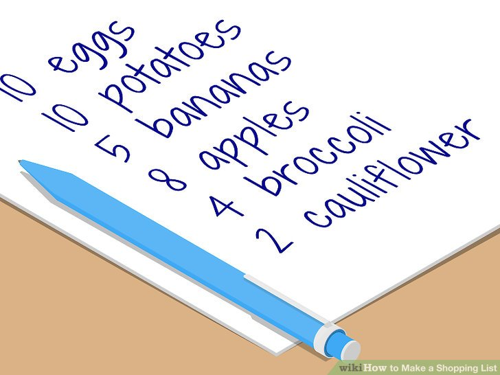 How to Make a Shopping List (with Pictures) wikiHow