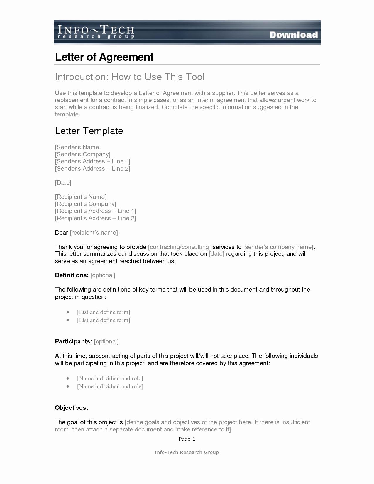 simple agreement letter Kleo.beachfix.co
