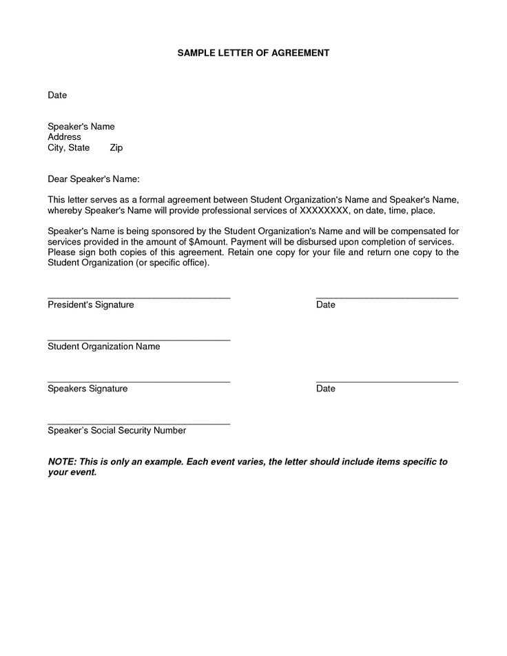 10+ Simple Agreement Letter Examples PDF