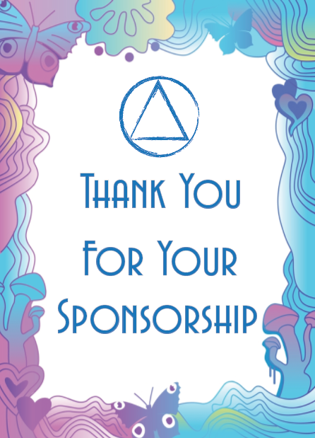 Thank You For Your Sponsorship Recovery12
