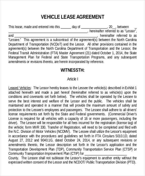 11+ Truck Lease Agreement Samples | Sample Templates