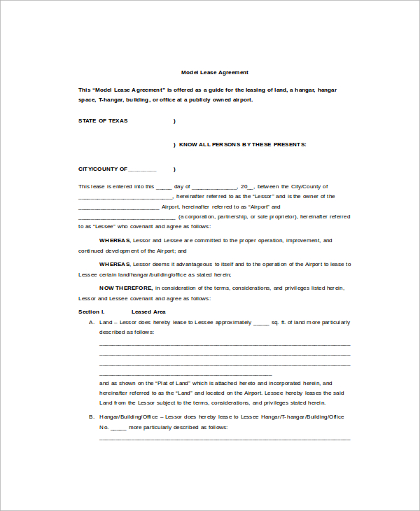 9+ Sample Commercial Truck Lease Agreements – PDF, Word, Pages