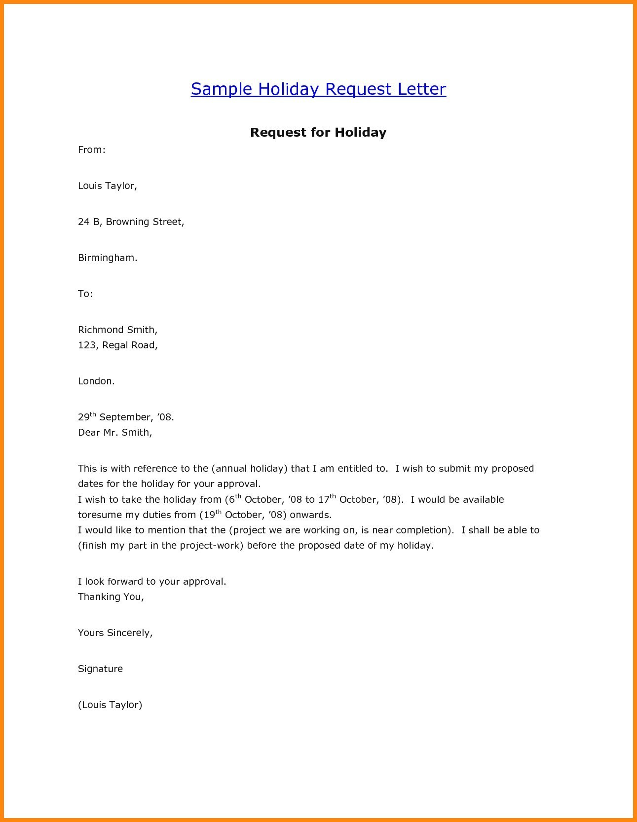 vacation leave letter sample for office vacation leave letter sample 25505 | vacation leave letter sample request letter format for vacation leave fresh beautiful annual leave letter to boss best annual leave approval letter sample vacation fresh latter of of request letter format for vacation leave fresh