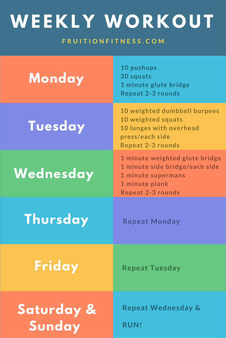 Weekly Fitness Plan – Build More Than Muscle